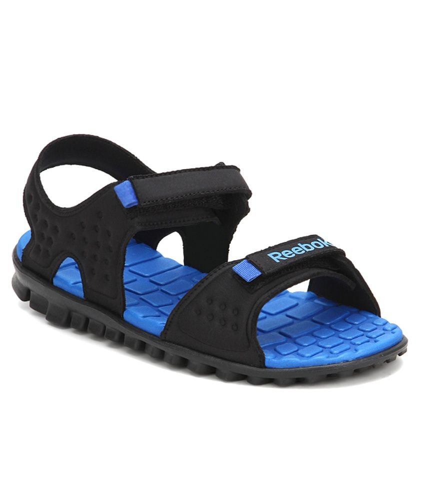 7090d87d63e0 Reebok Ultra Flex 1.5 Black   Blue Floaters - Buy Reebok Ultra Flex 1.5  Black   Blue Floaters Online at Best Prices in India on Snapdeal