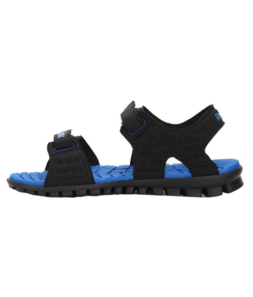 3d51a40422c Reebok Ultra Flex 1.5 Black   Blue Floaters - Buy Reebok Ultra Flex ...