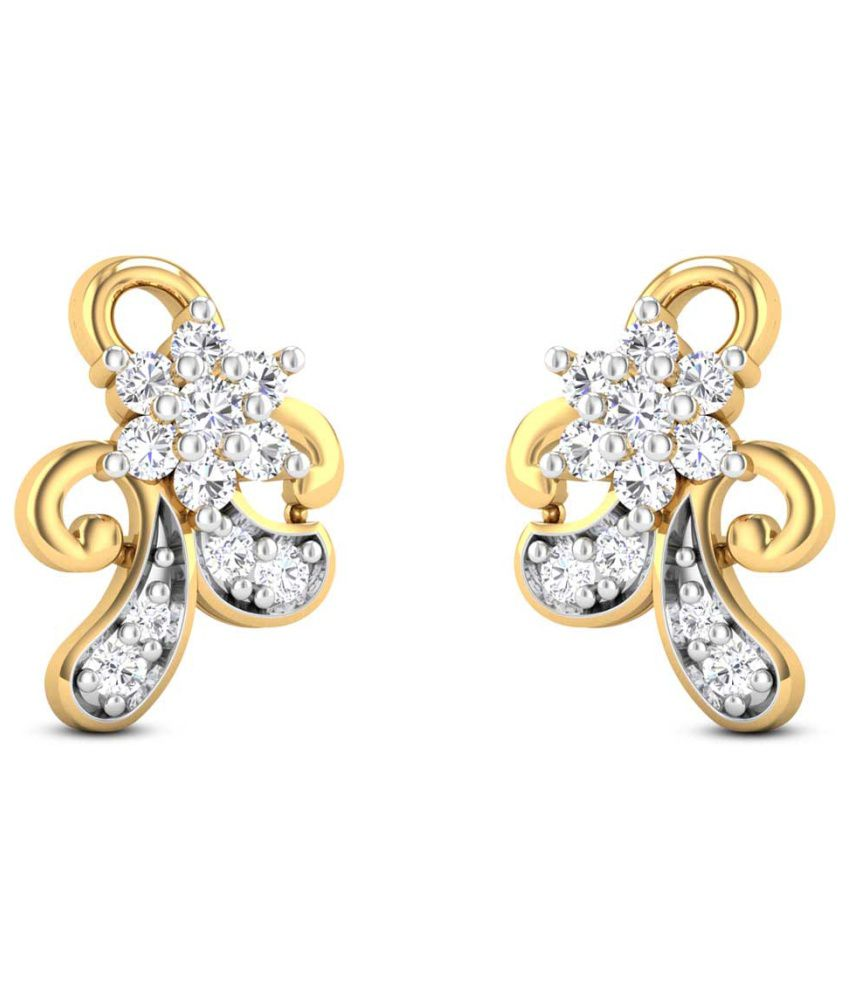 Zaamor Diamonds 18kt Gold Diamond Stud Earrings