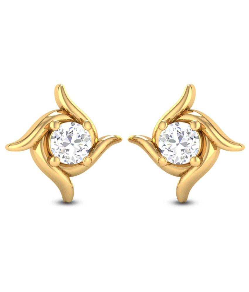 Zaamor Diamonds 18kt Gold Diamond Stud Earrings
