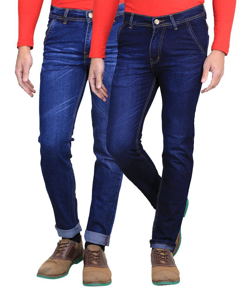 AVE Blue Slim Fit Jeans - Pack of 2