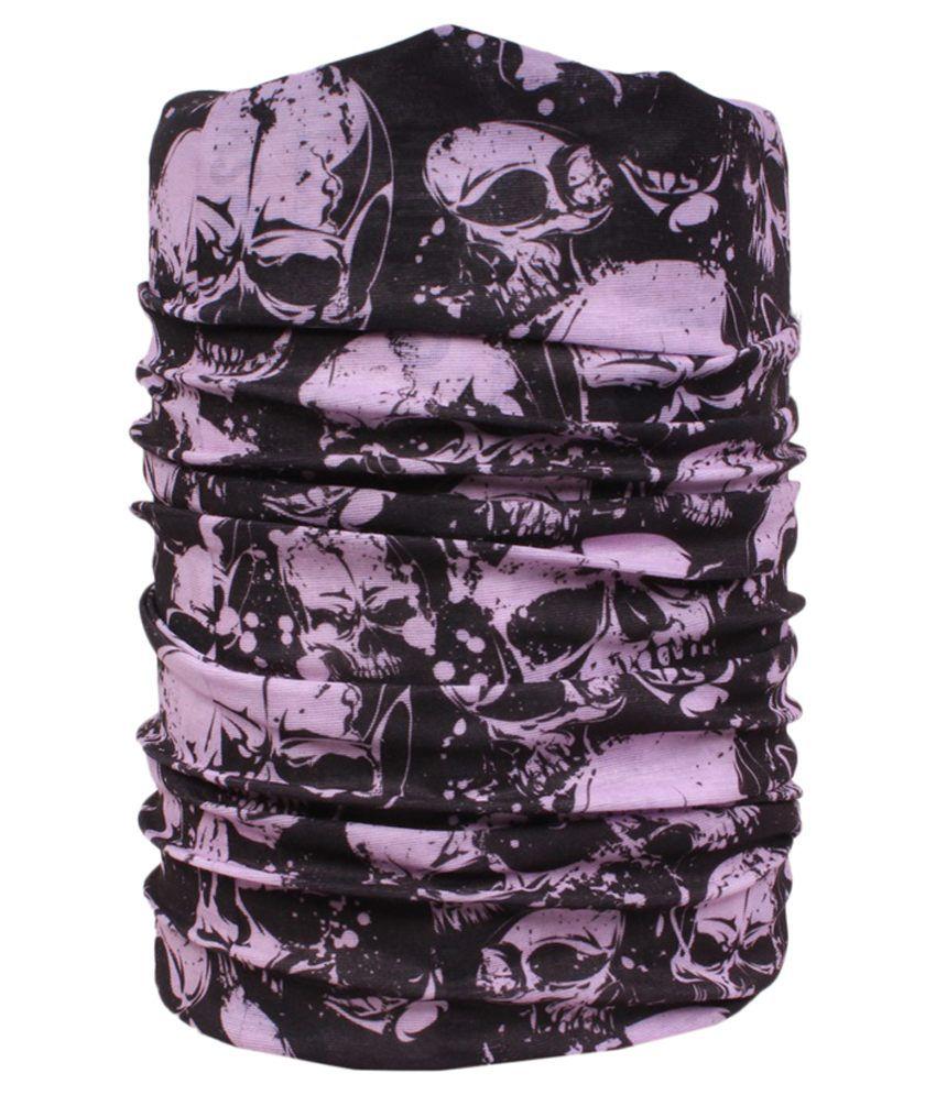 Sushito Black And Purple Multipurpose Unisex Head Wrap/Bandana