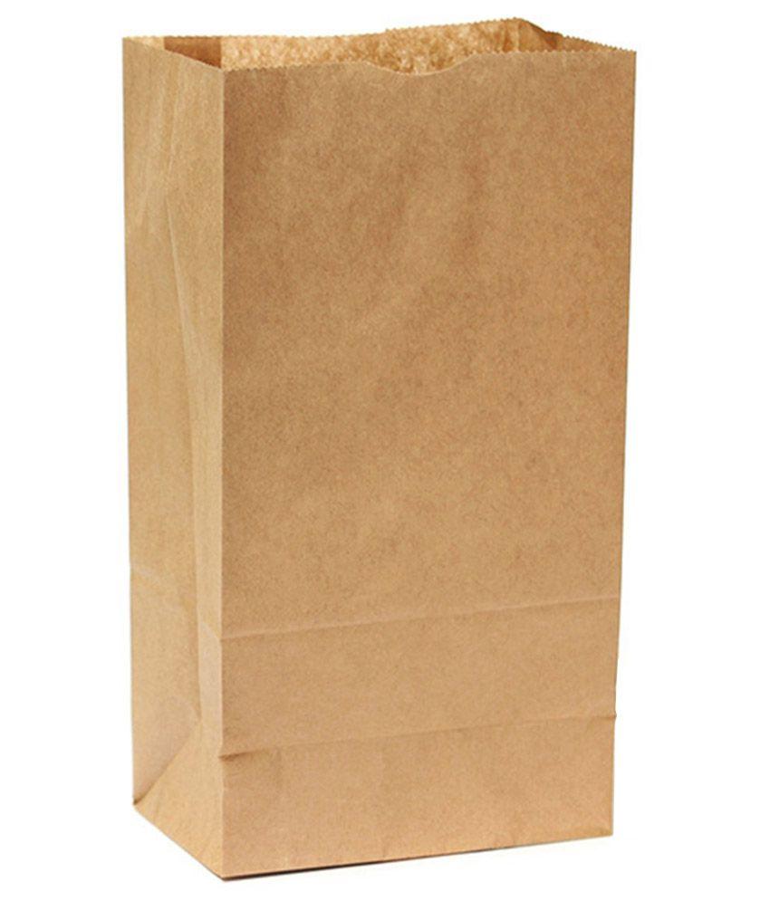 The Paper Bag Khaki Paper Shopping Bag of 3 Kg 225 Pcs