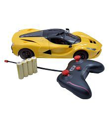 Azi Yellow Plastic Remote Controlled Rechargeable Car