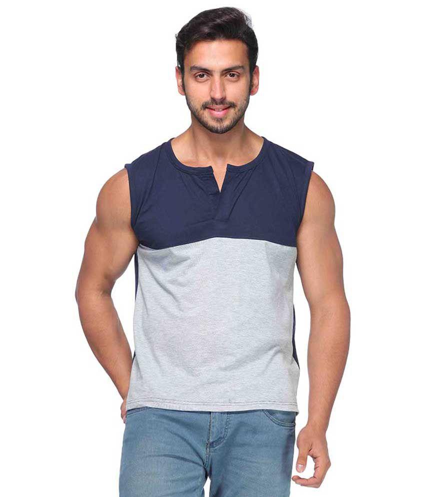 Demokrazy Grey Cotton Blend T-Shirt
