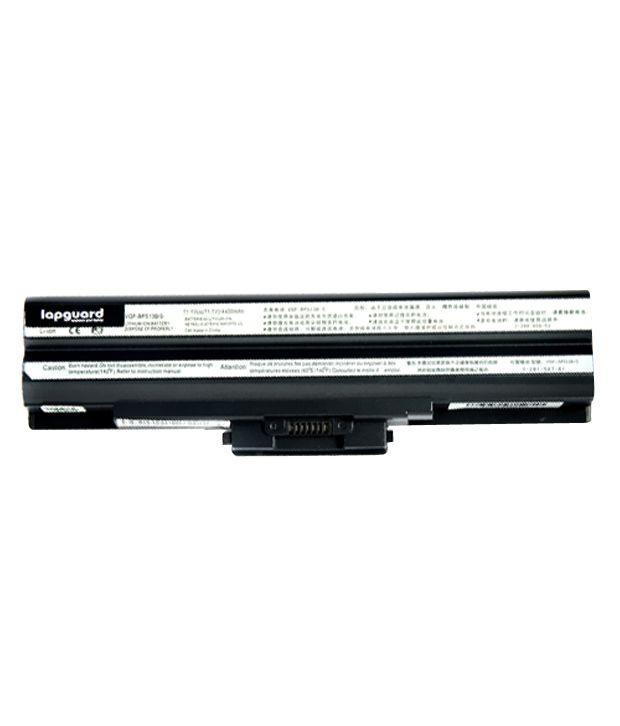 Lapguard 4400mAh Lithium-ion Laptop Battery For Sony VGN-CS36TJ/V - Black