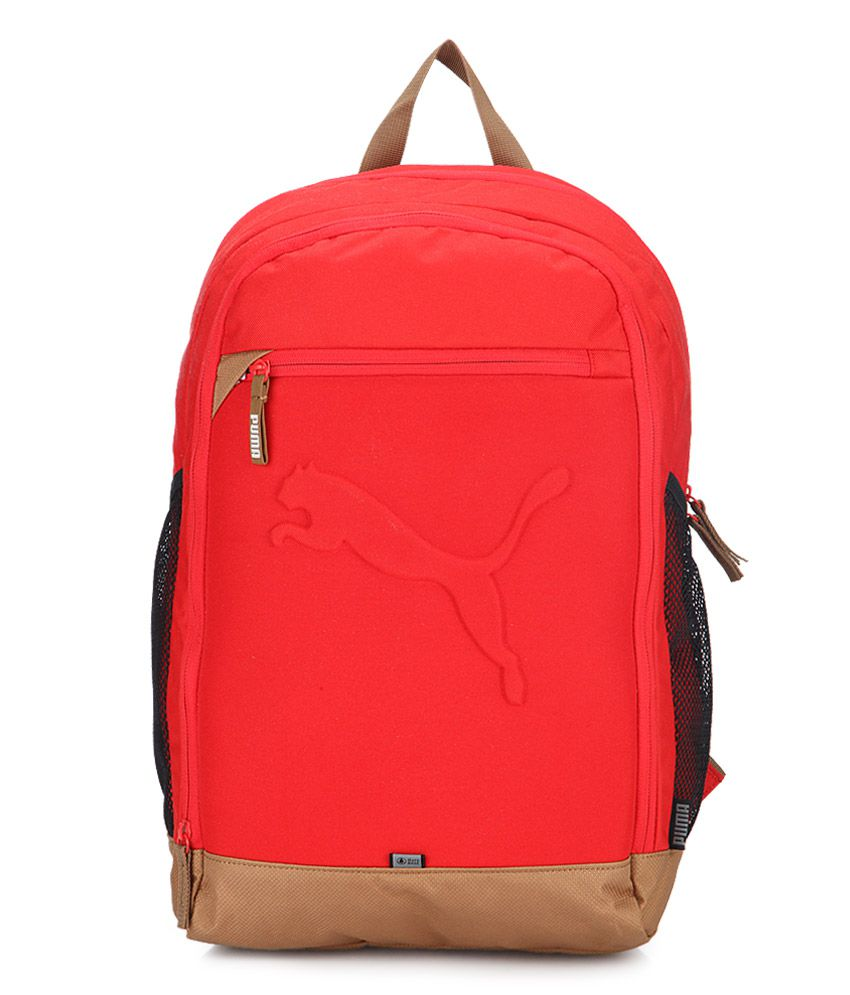 2ba9de9b1d30b Puma Buzz Red Backpack - Buy Puma Buzz Red Backpack Online at Low Price -  Snapdeal