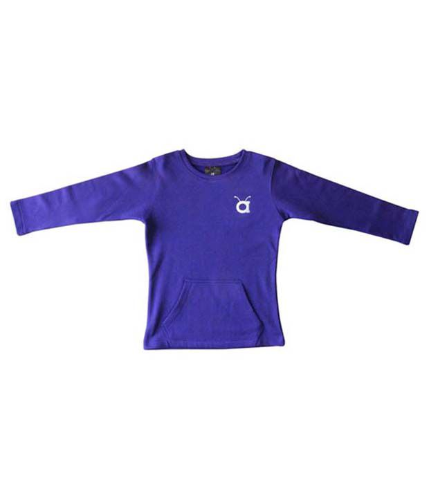 Anthill Purple Polyester Sweat Shirt