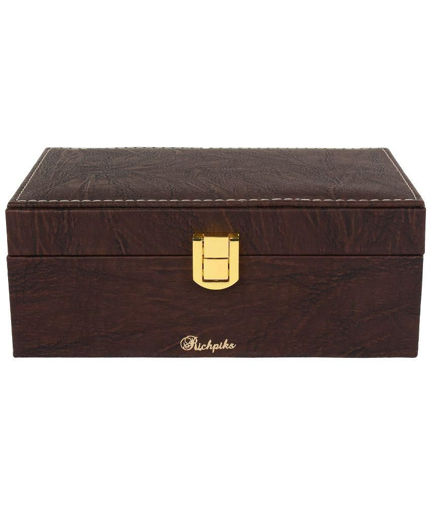 Richpiks Brown Jewellery Accessories Box
