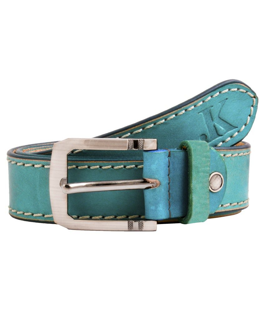 Shoppers Potli Blue Leather Belts For Men