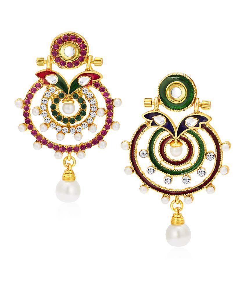 Sukkhi Multicolour Alloy Reversible Earring