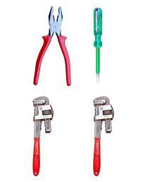 Taparia Tool Kit-Set Of Plier & Taparia Line Tester & Venus Pipe Wrench 14 Inch-Pack Of 2