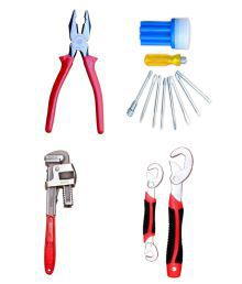 Taparia Tool Kit-Set Of Plier & Venus Screw Driver Kit & Venus Pipe Wrench 14 Inch & Universal Wrench