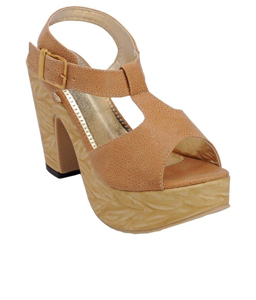 Nell Beige Heeled Sandals