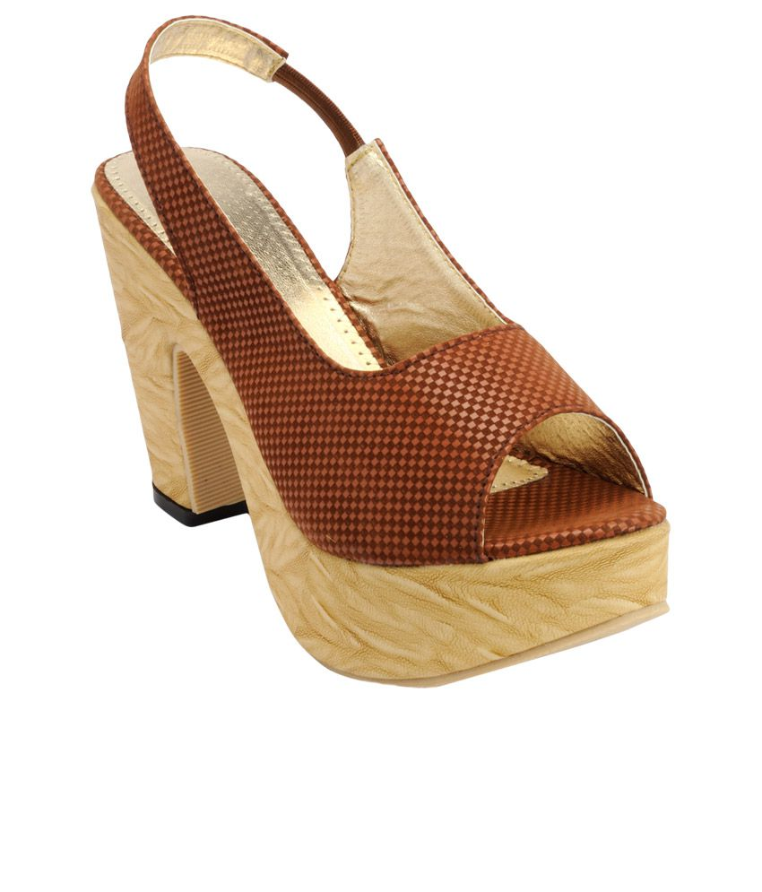 Nell Brown Heeled Sandals