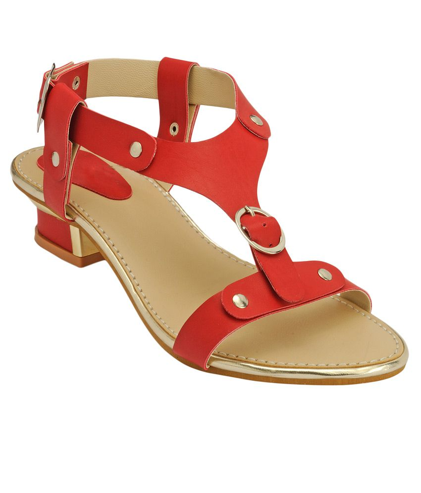 Nell Red Heeled Sandals