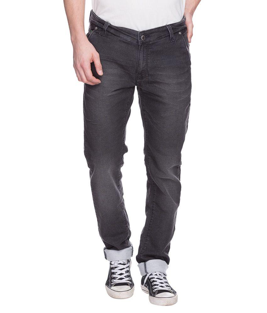 Spykar Black Regular Fit Jeans