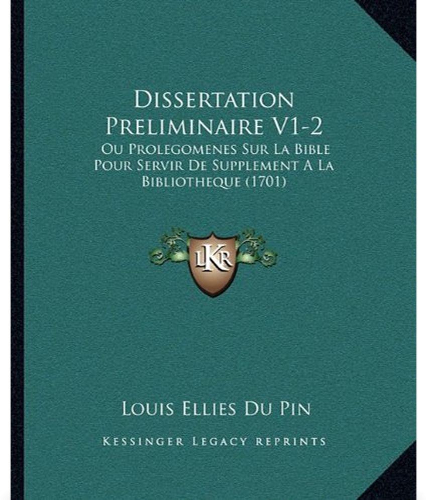Bible dissertation