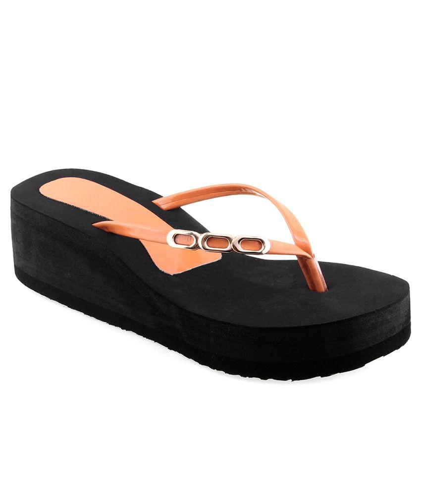 Shoe Lab Orange Slippers & Flip Flops
