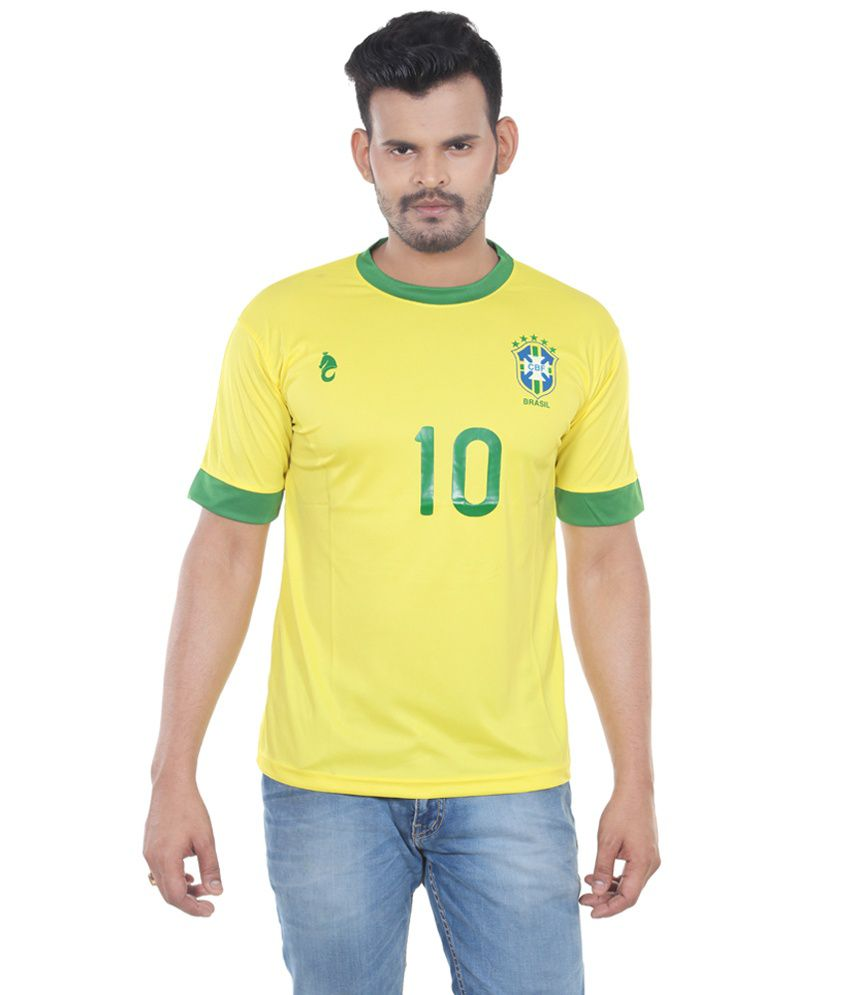 Bloomun Yellow Brazil Football Fan Jersey