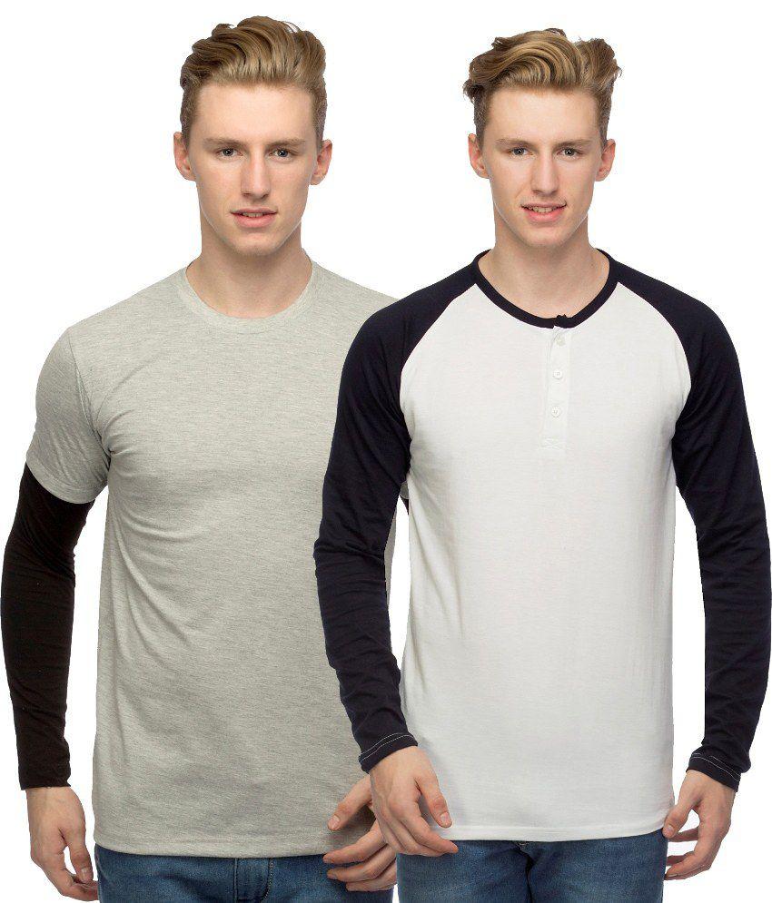 Martech Multicolour T - Shirt - Pack of 2
