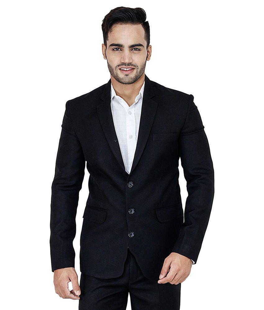 Nasir Navy Casual Blazers Single