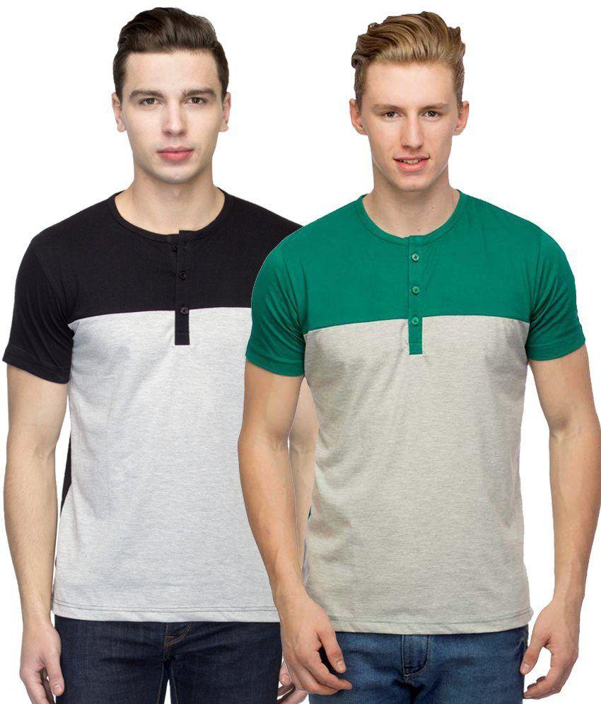 Martech Multi Henley T Shirts