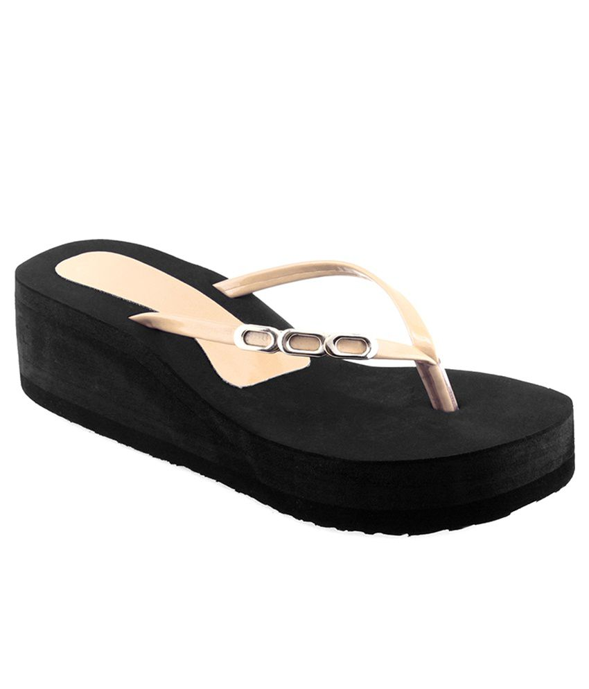 Shoe Lab Beige Slippers & Flip Flops