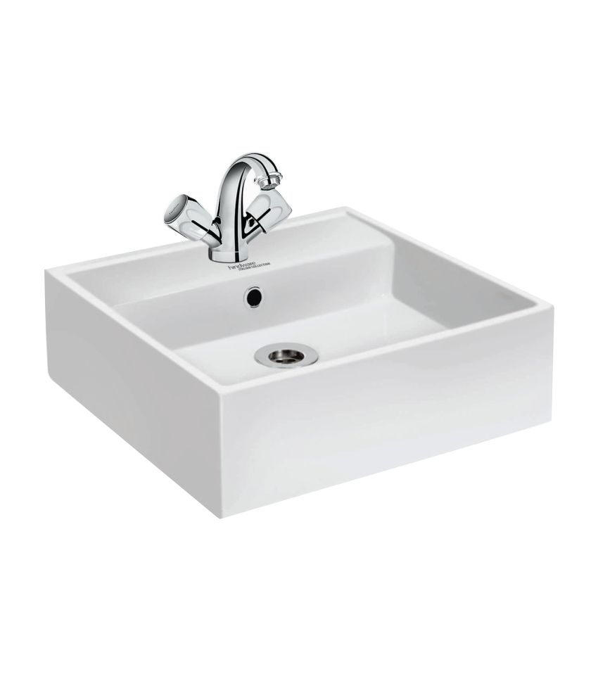 buy hindware white ceramic inox wash basin online at low price in rh snapdeal com