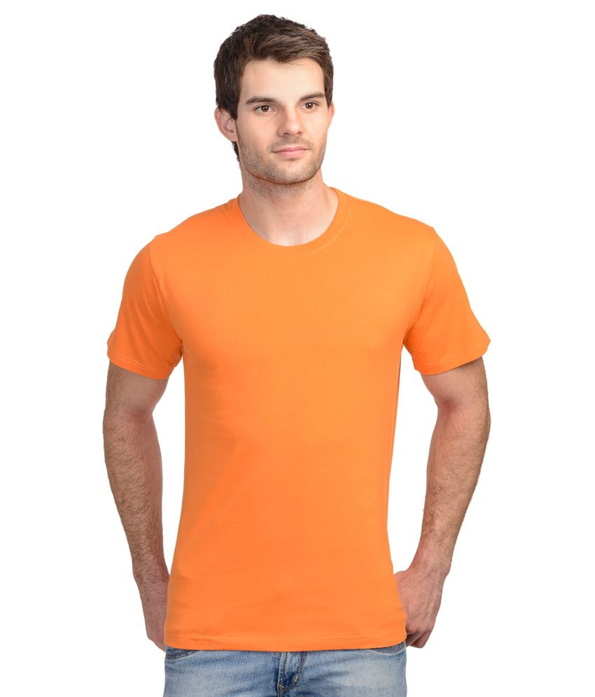 Palsun Fashion Wears Orange Round T Shirts Pack of 3