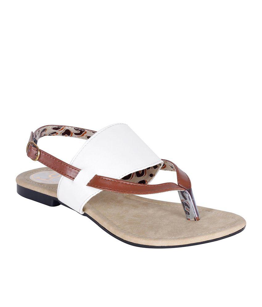 Lovely Chick White Flat Slip-on & Sandal