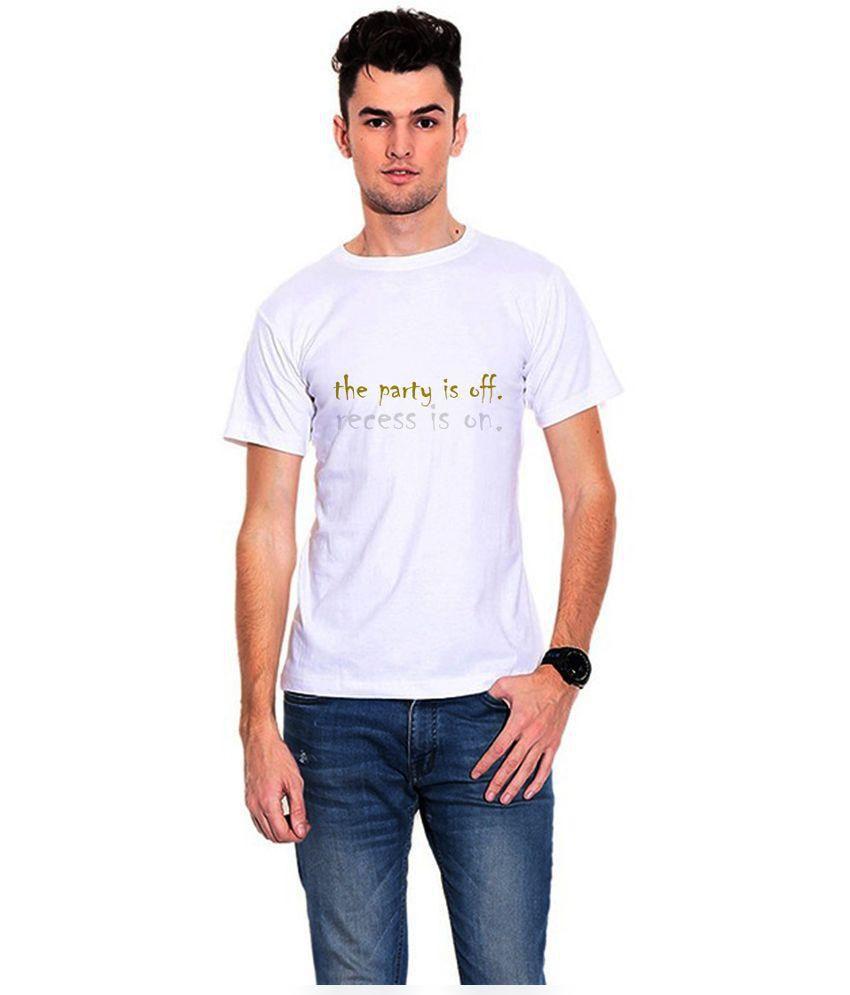 Dealnearn White Polyester T-Shirt