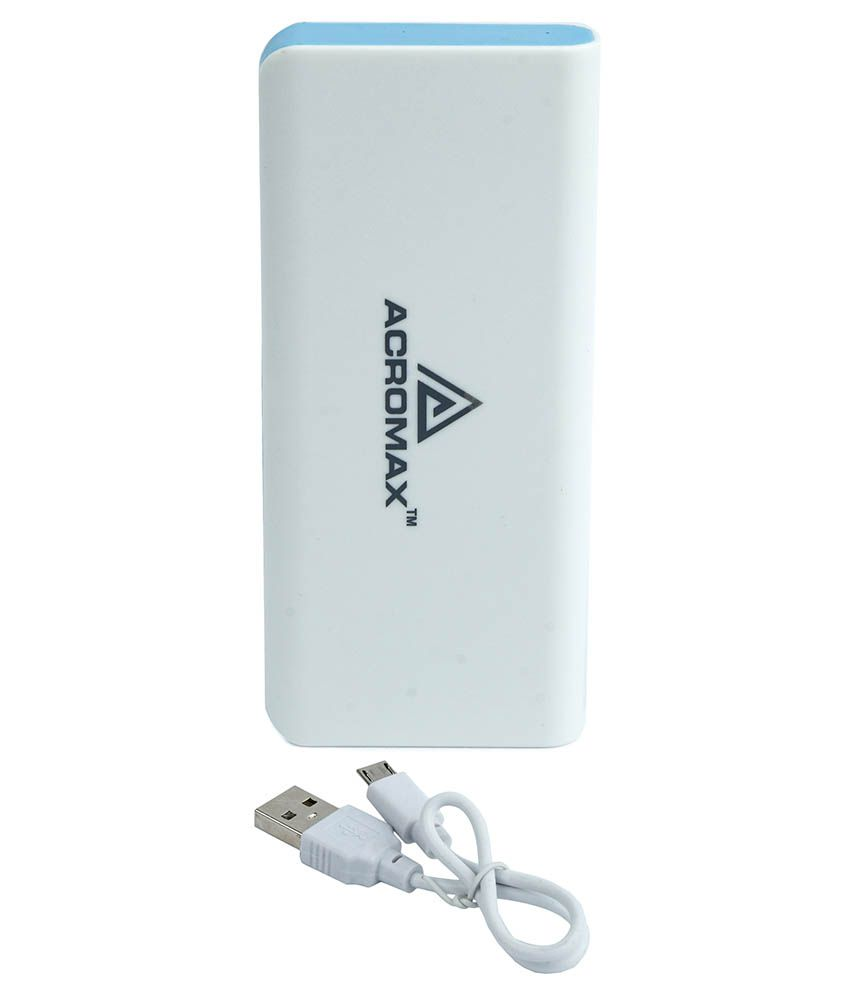 Acromax 13000 mAh Power Bank With Cable For HTC Raider 4G - Blue