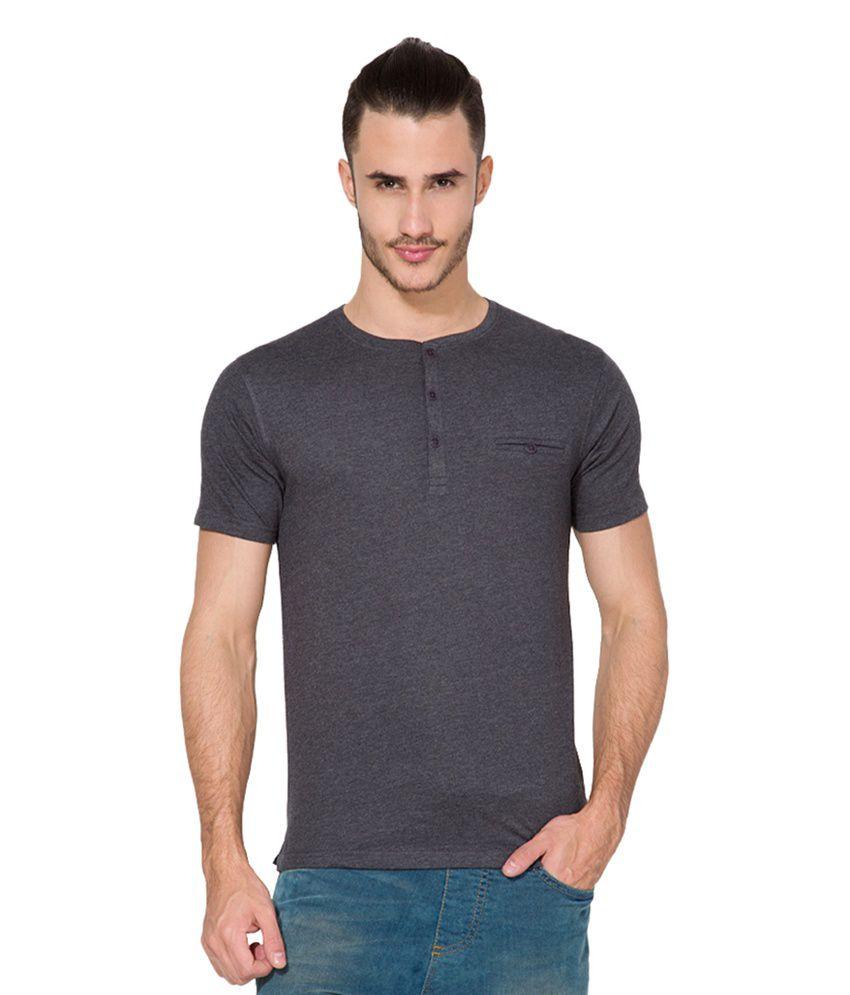 Highlander Black Henley T Shirts