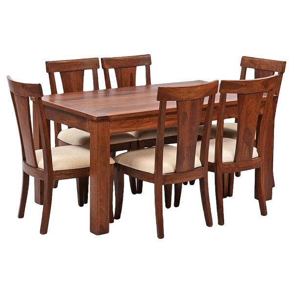 Ethnic India Art Lisbon 6 Seater Sheesham Wood Dining Set
