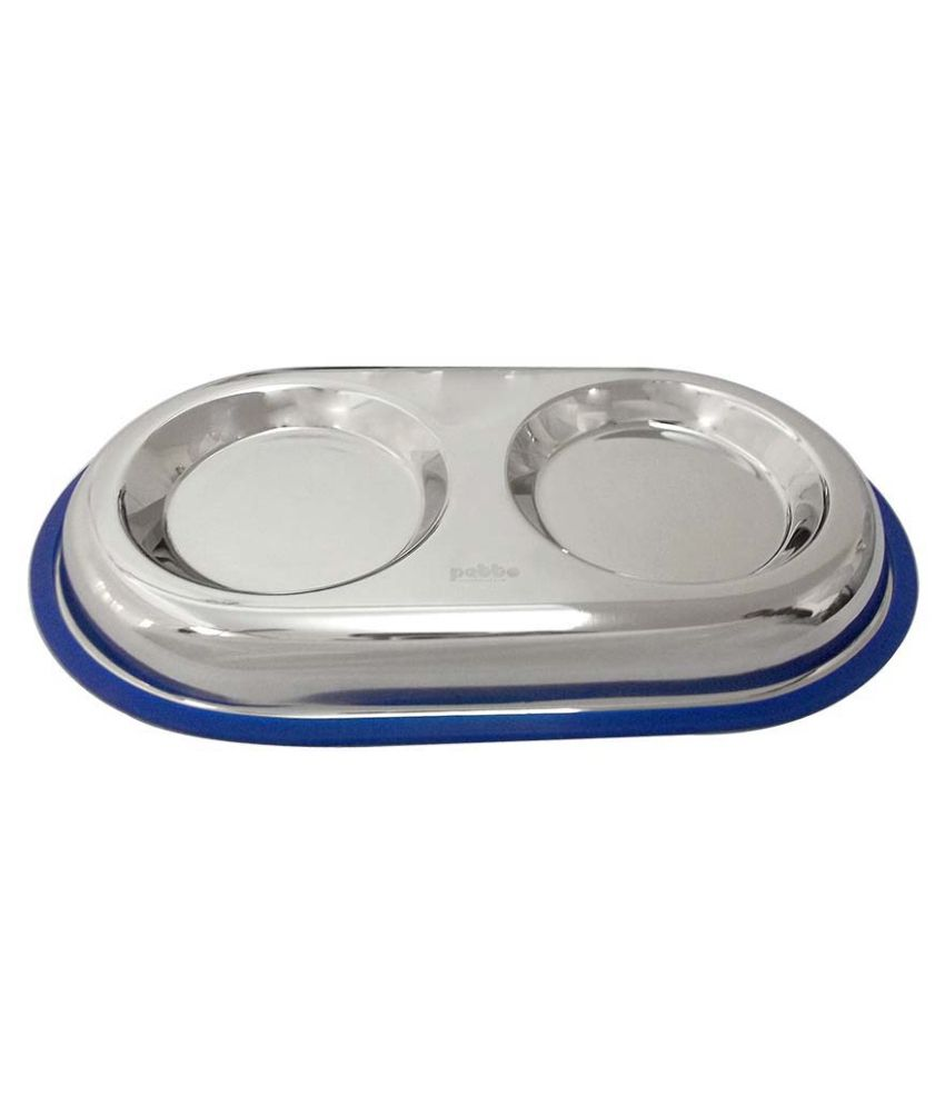 Petto Stainless Steel Kitty Dual Diner for Cat