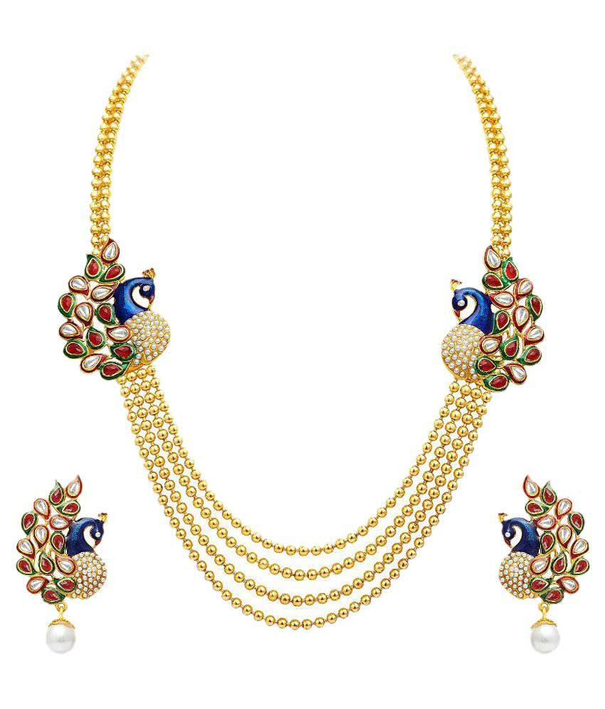 Sukkhi Multicolour Alloy Necklace Set