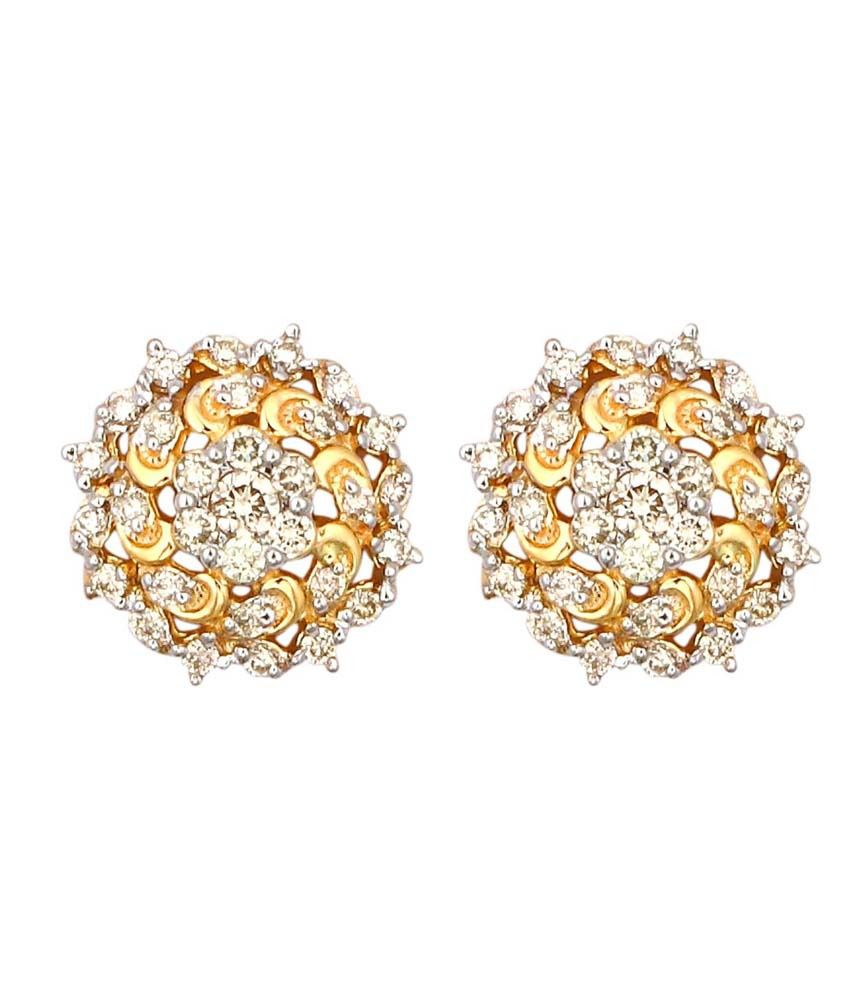 Rivaa Collection 14Kt Gold Stud Earrings
