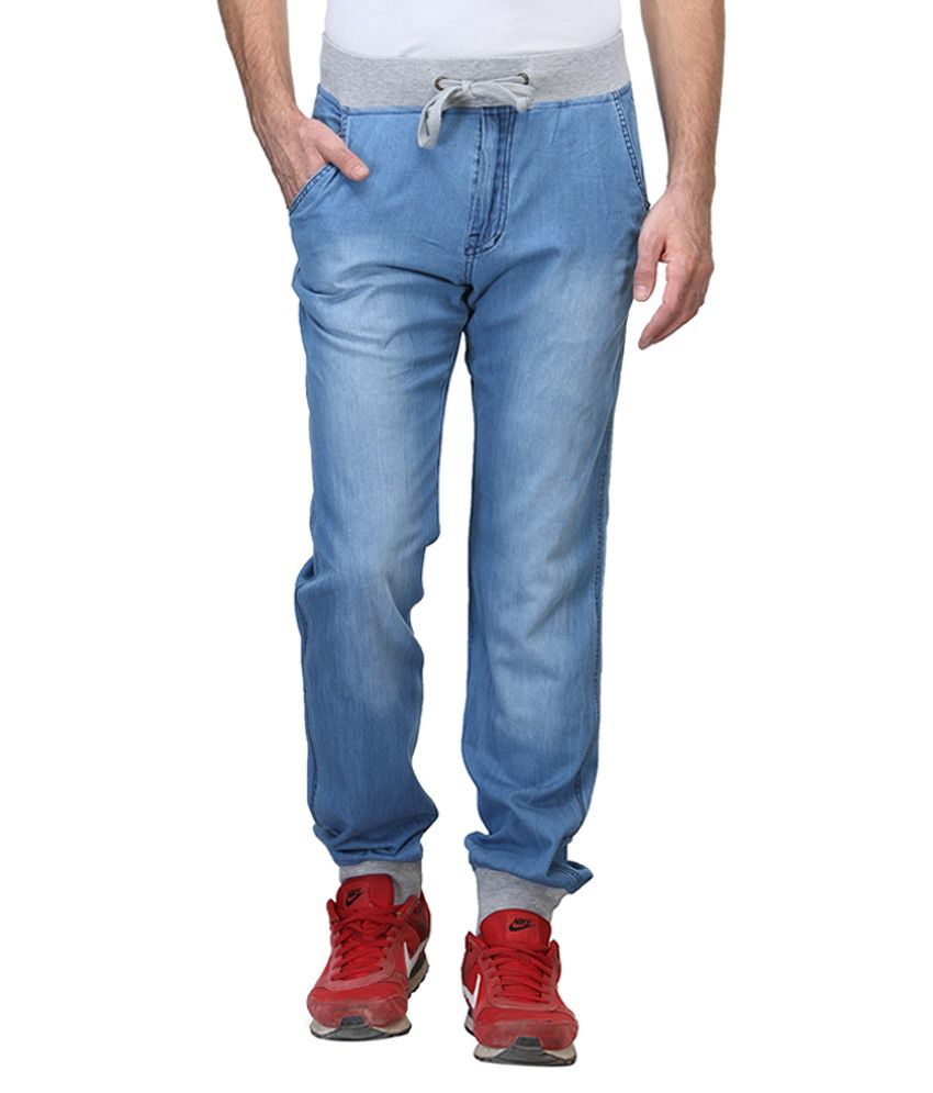 Wear Your Mind Blue Regular Fit Chinos No