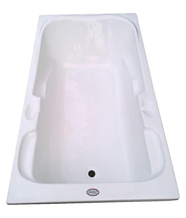 buy madonna euro acrylic fixed bathtub - white online at low price