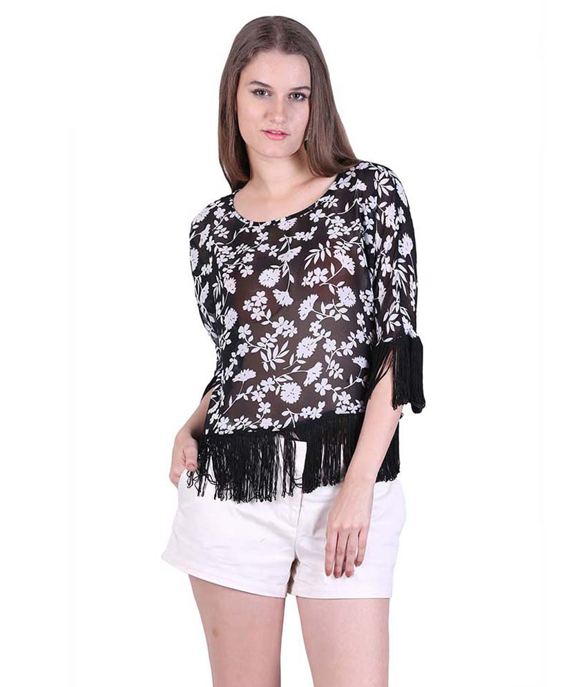 Cool Quotient Black Polyester Tunics