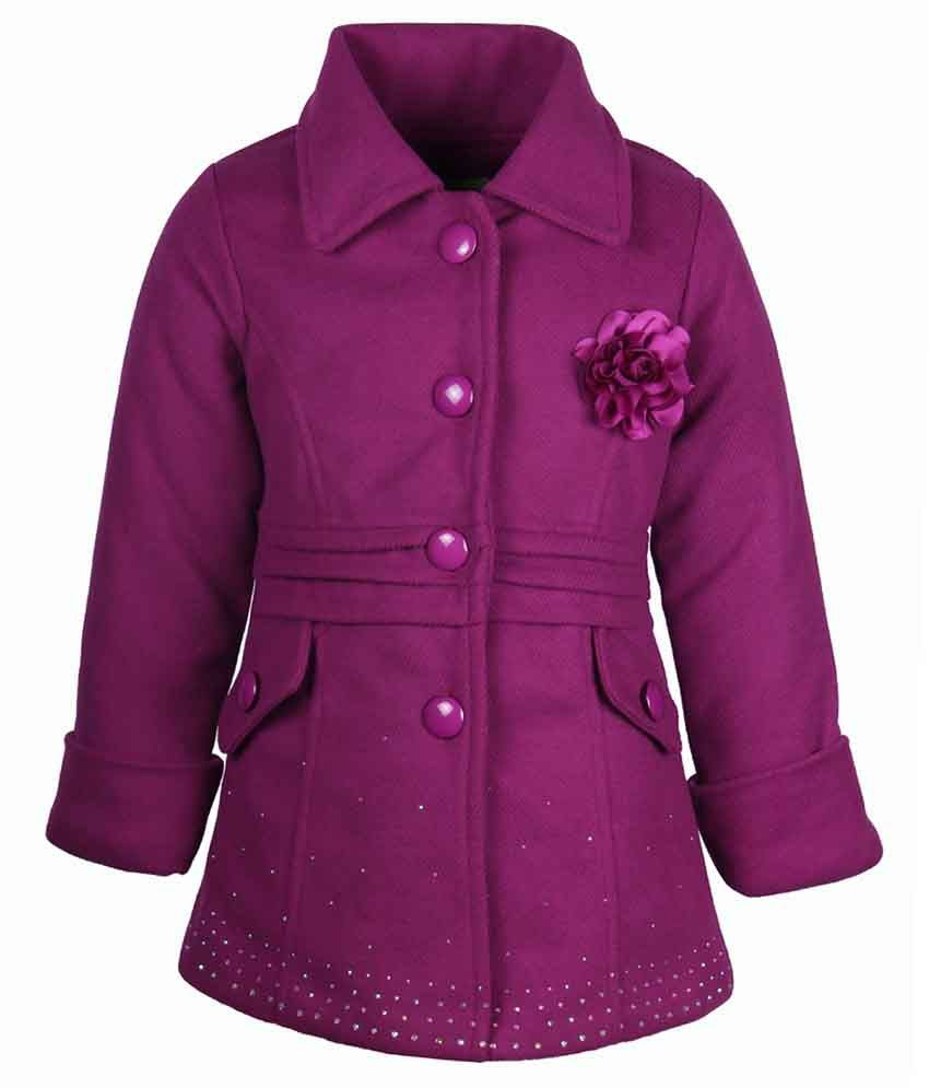 Cutecumber Purple Coat For Girls