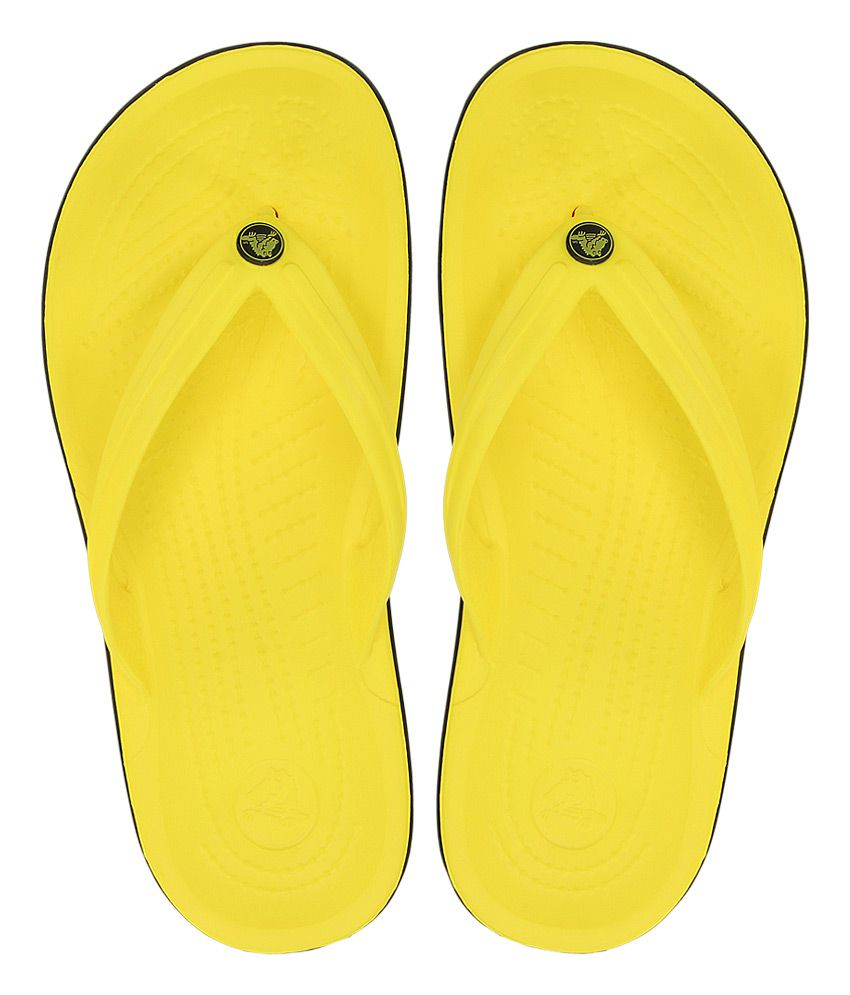 d677e5b641c1 Crocs Yellow Relaxed Fit Flip Flops Price in India- Buy Crocs Yellow  Relaxed Fit Flip Flops Online at Snapdeal