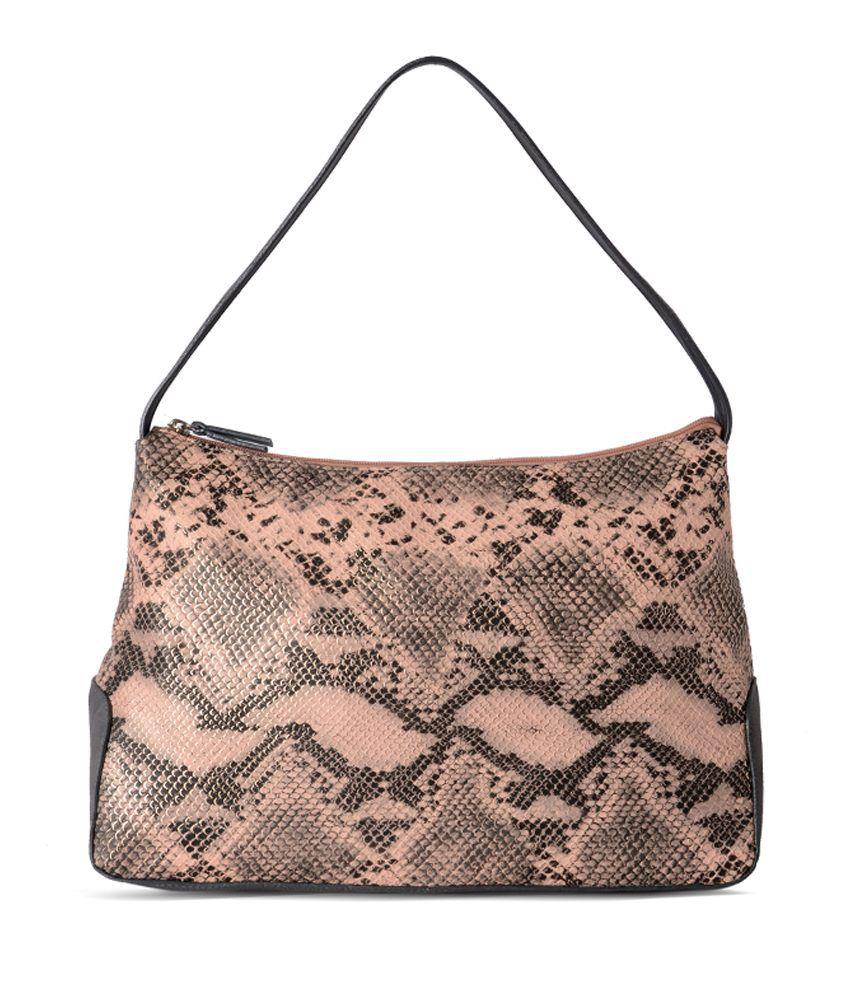 Baggit Beige Rexine Sling Bag