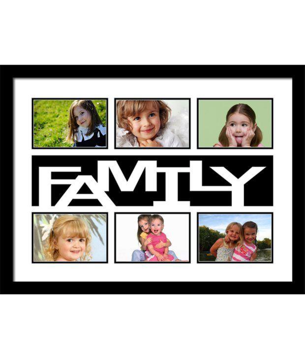 Elegant Arts & Frames Black My Family Collage Photo Frame