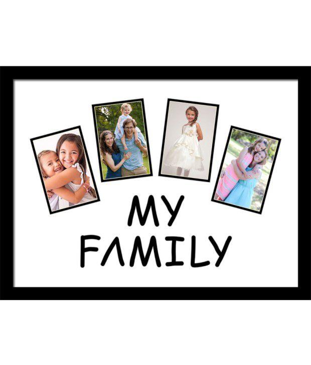 Elegant Arts & Frames Black My Family Collage Photo Frame: Buy ...