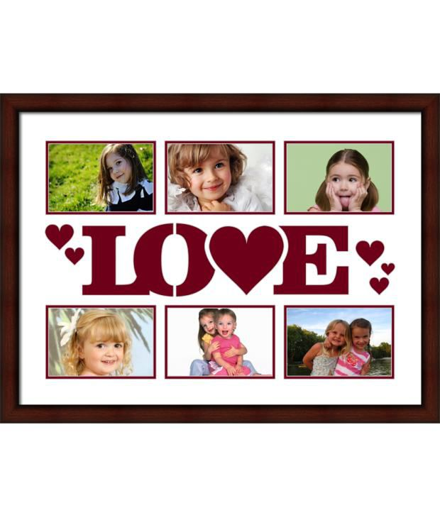 Elegant Arts & Frames Brown Love Collage Photo Frame
