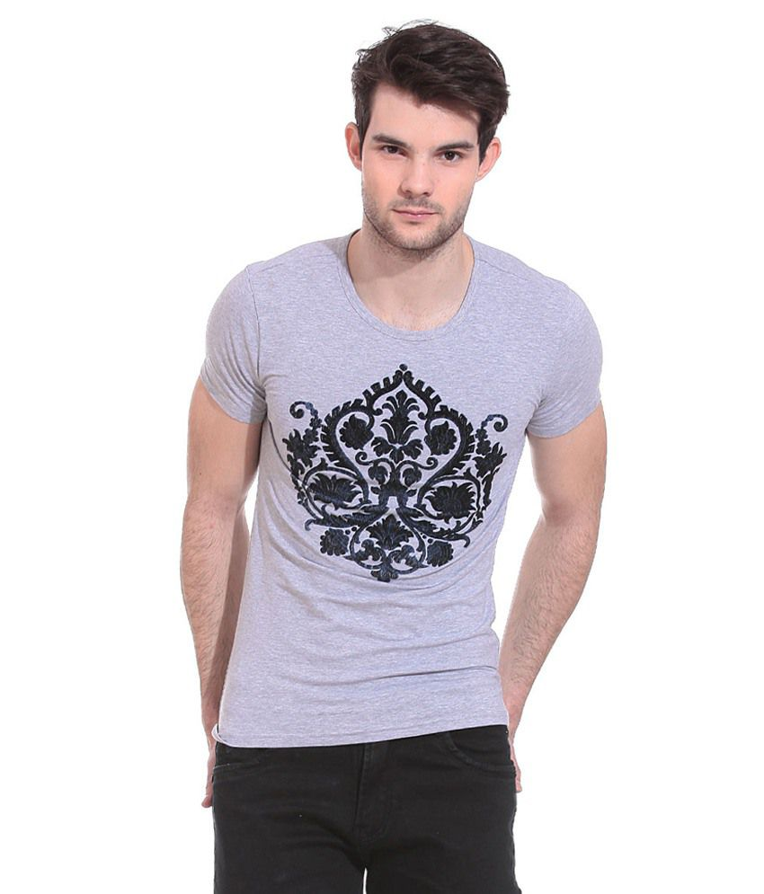 Claude 9 Grey Round T Shirts No