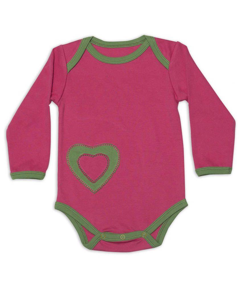 Nino Bambino Pink & Green Cotton Body Suit
