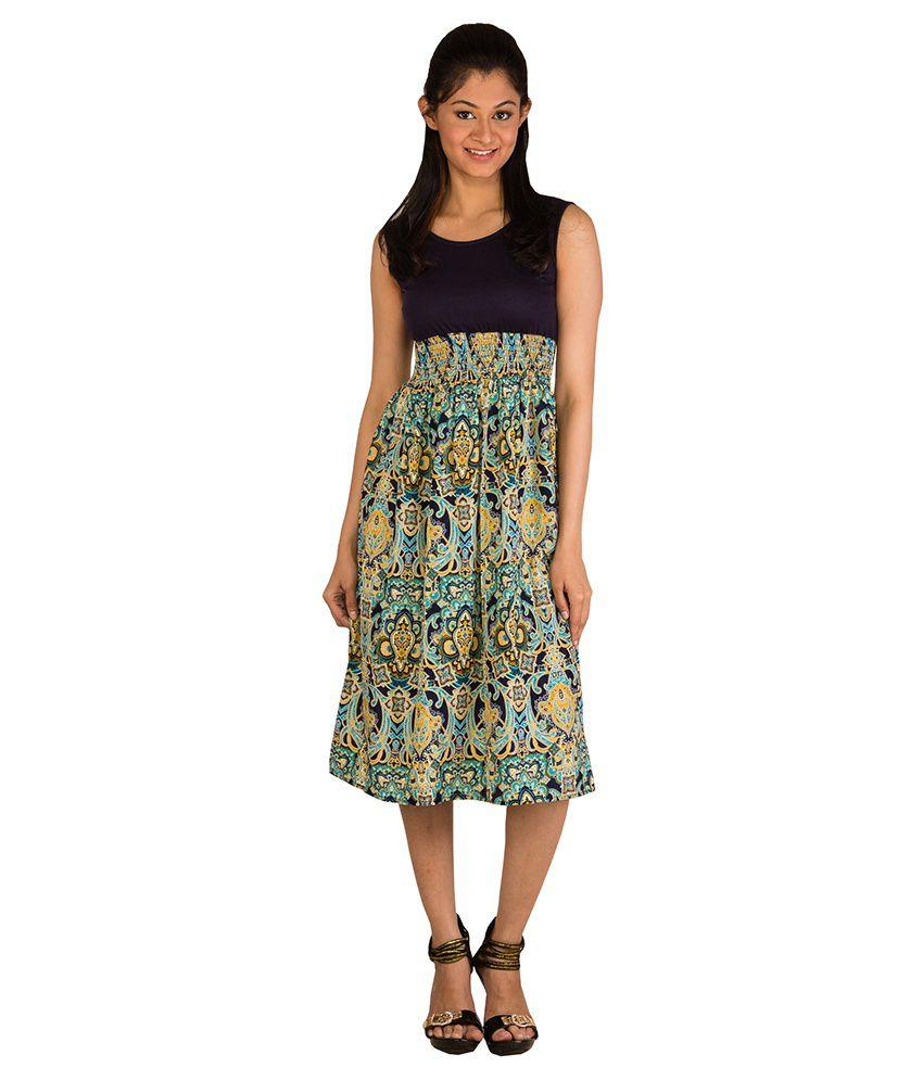 Modo Vivendi Chiffon Blue Shift Dress